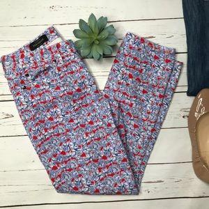 {J. Crew} sz 29 Toothpick ankle Liberty Art jeans